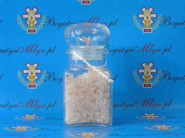 Sól w szklanym zamykanym pojemniku himalajska różowa krystaliczna gruba